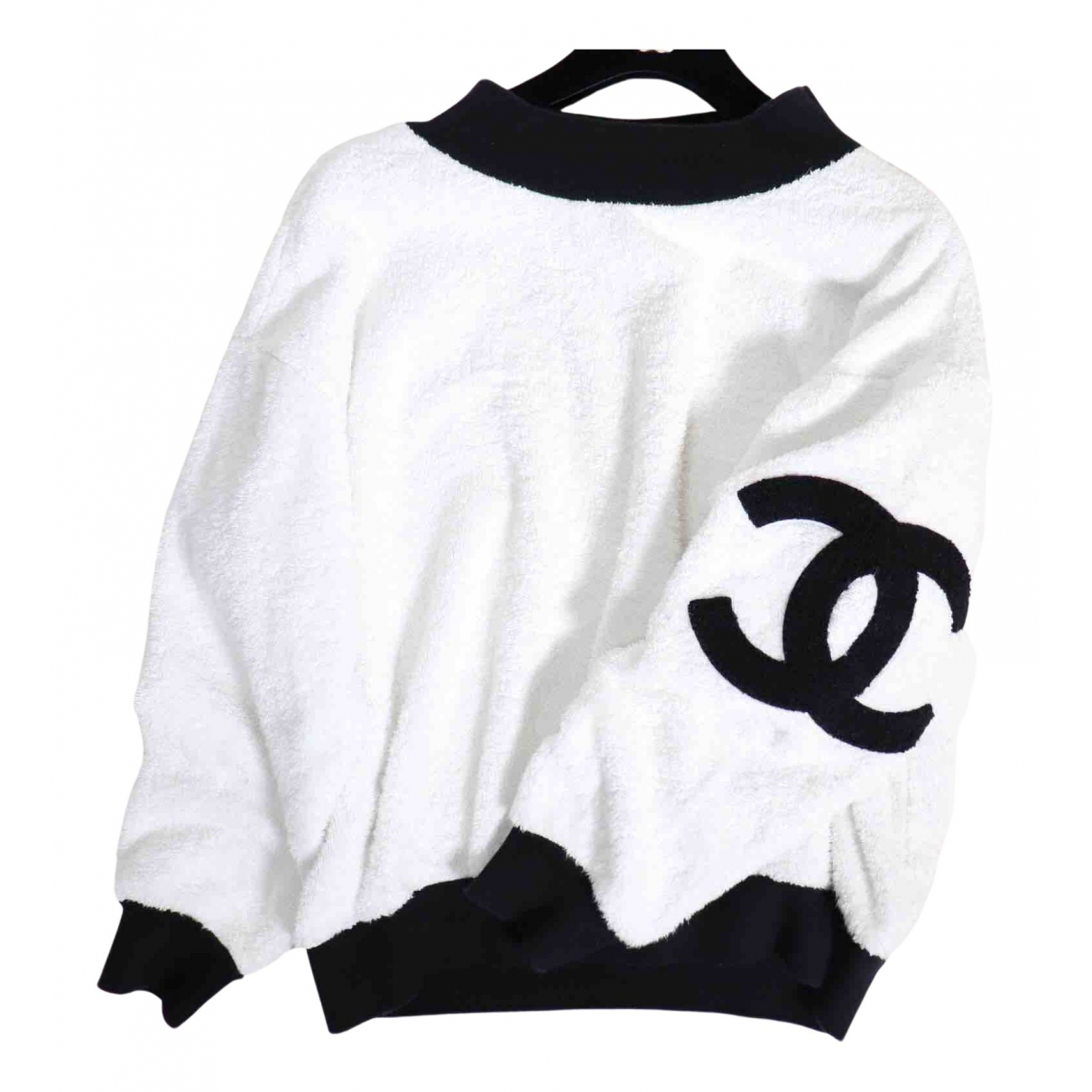 Chanel N White Cotton Knitwear for Women 38 FR