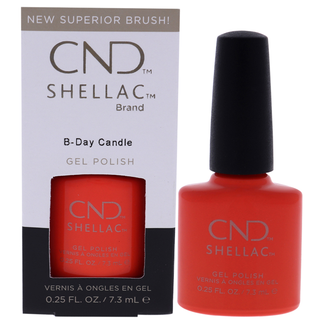 Shellac Gel Nail Color - B-Day Candle