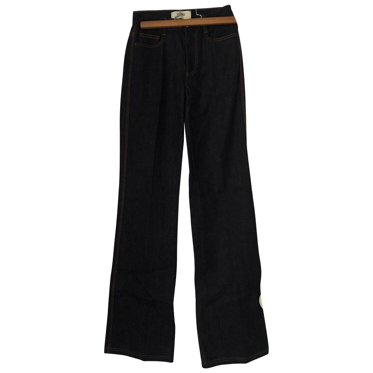Fendi N Blue Cotton Jeans for Women 38 FR