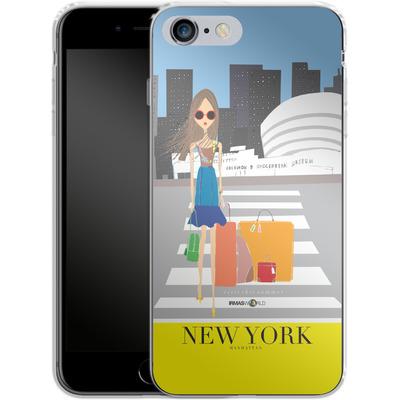 Apple iPhone 6 Plus Silikon Handyhuelle - NEW YORK TRAVEL POSTER von IRMA