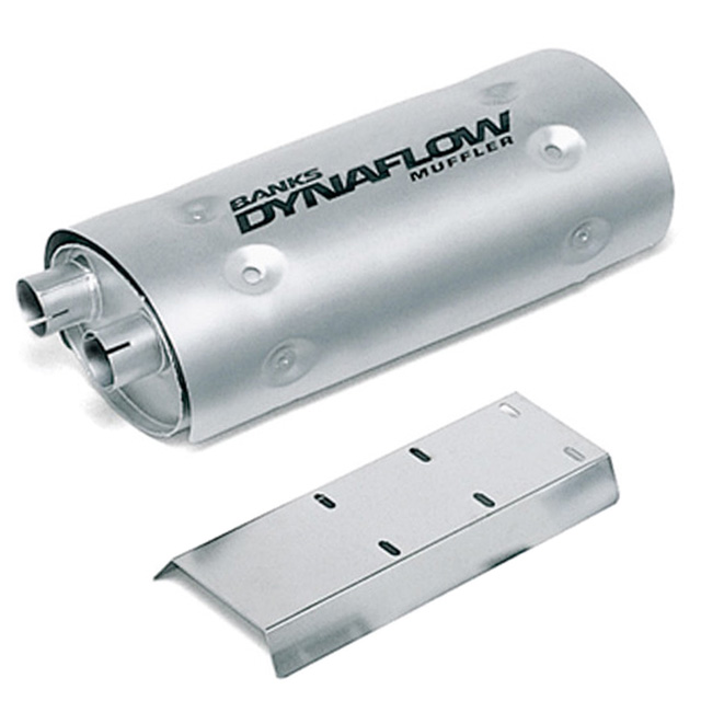 Stainless Steel Exhaust Muffler 3 Inch Inlet X 3.5 Inch Outlet GM 454 Motorhome EFI Vortec W/Heatshield Banks Power 52410