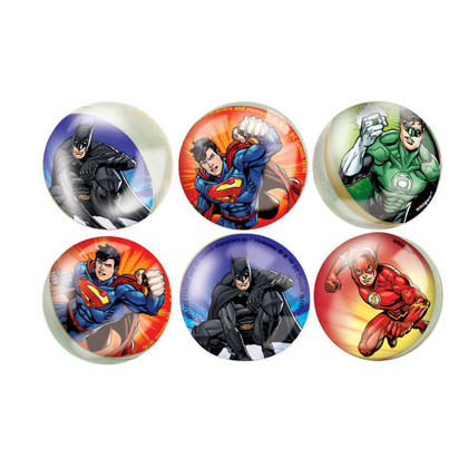 Justice League 6 Bounce Balls For Birthday Party
