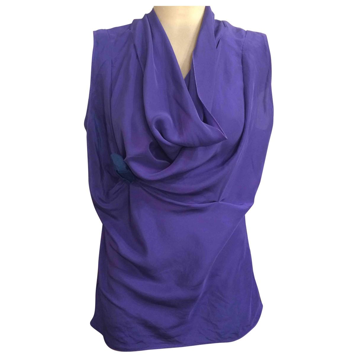 Blumarine - Top   pour femme en soie - violet