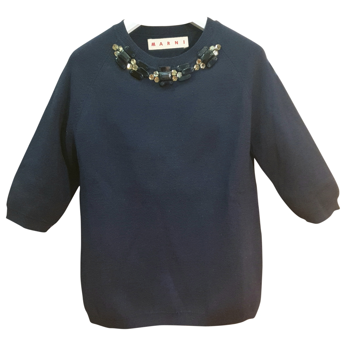 Marni \N Pullover in  Marine Wolle