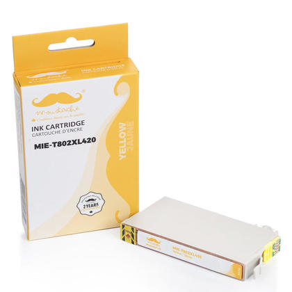Compatible Epson WorkForce Pro WF-4730 Yellow Ink Cartridge High Yield - Moustache