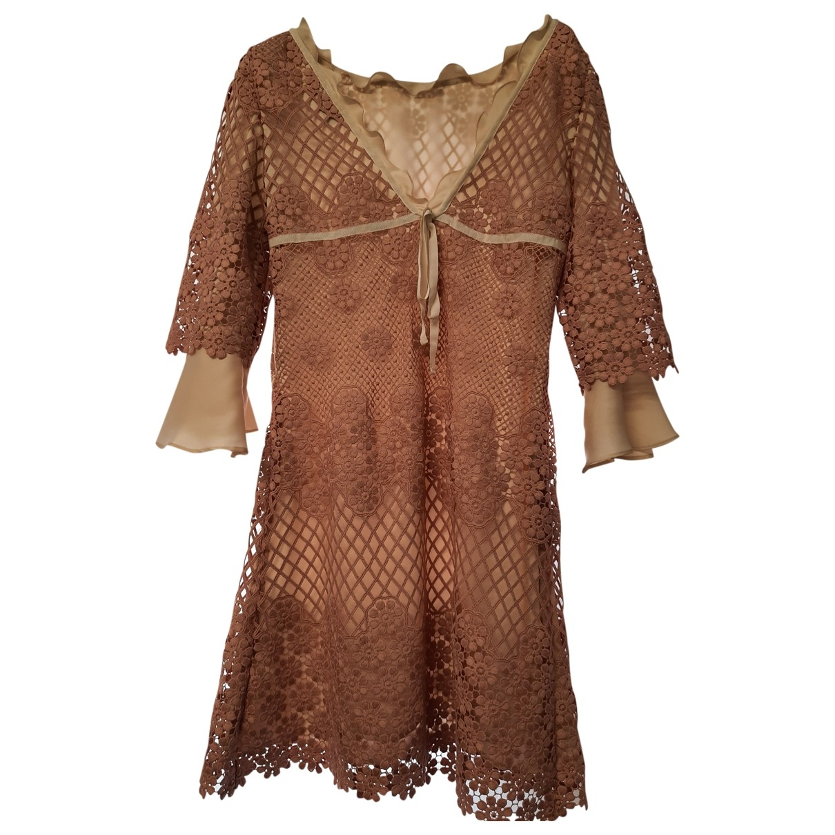 Non Signé / Unsigned \N Pink Lace dress for Women 44 IT