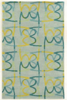 BBDBD859300800810 Bradberry Downs BD8593-8' x 10' Hand-Tufted 100% Premium Blended Wool Rug in Sky Blue   Rectangle