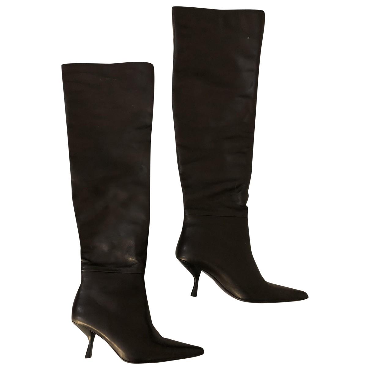 The Row - Bottes Bourgeoise pour femme en cuir - noir