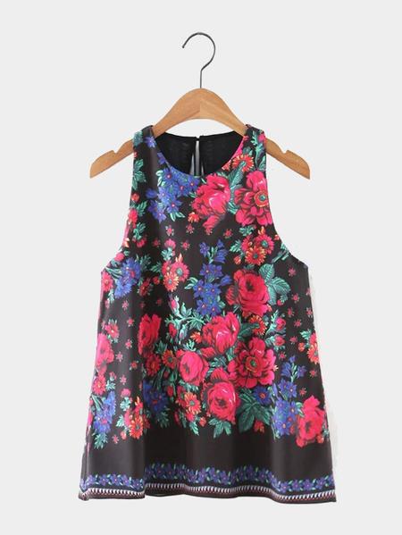 Yoins Floral Print Sleeveless Top