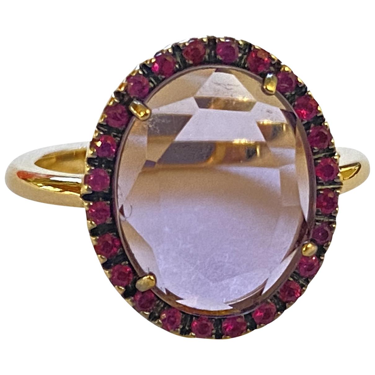Pomellato - Bague Colpo di Fulmine pour femme en or rose - violet