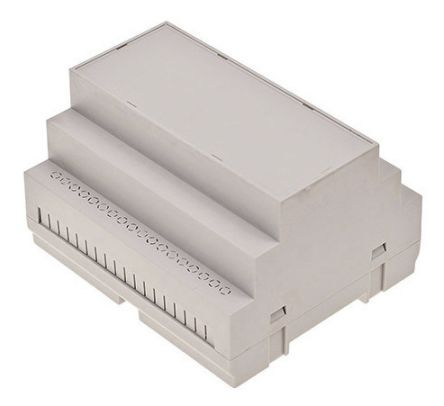 RS PRO Modular Enclosure Type, 105.0 x 90.0 x 65.3mm, ABS DIN Rail Enclosure, Light Grey