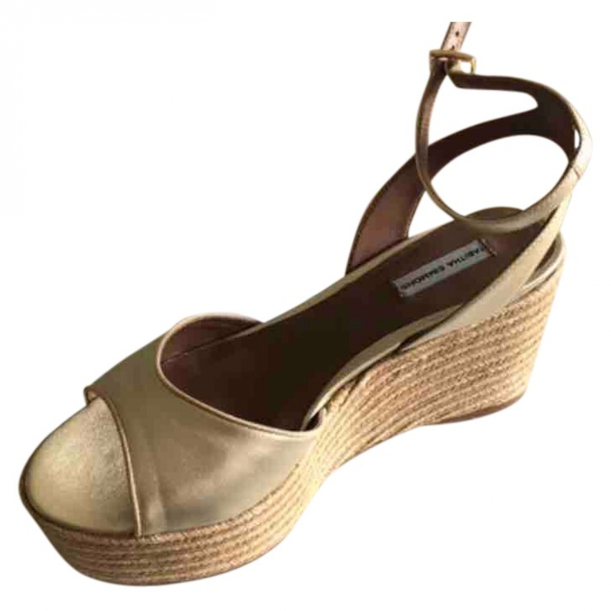 Tabitha Simmons \N Gold Leather Espadrilles for Women 39 EU