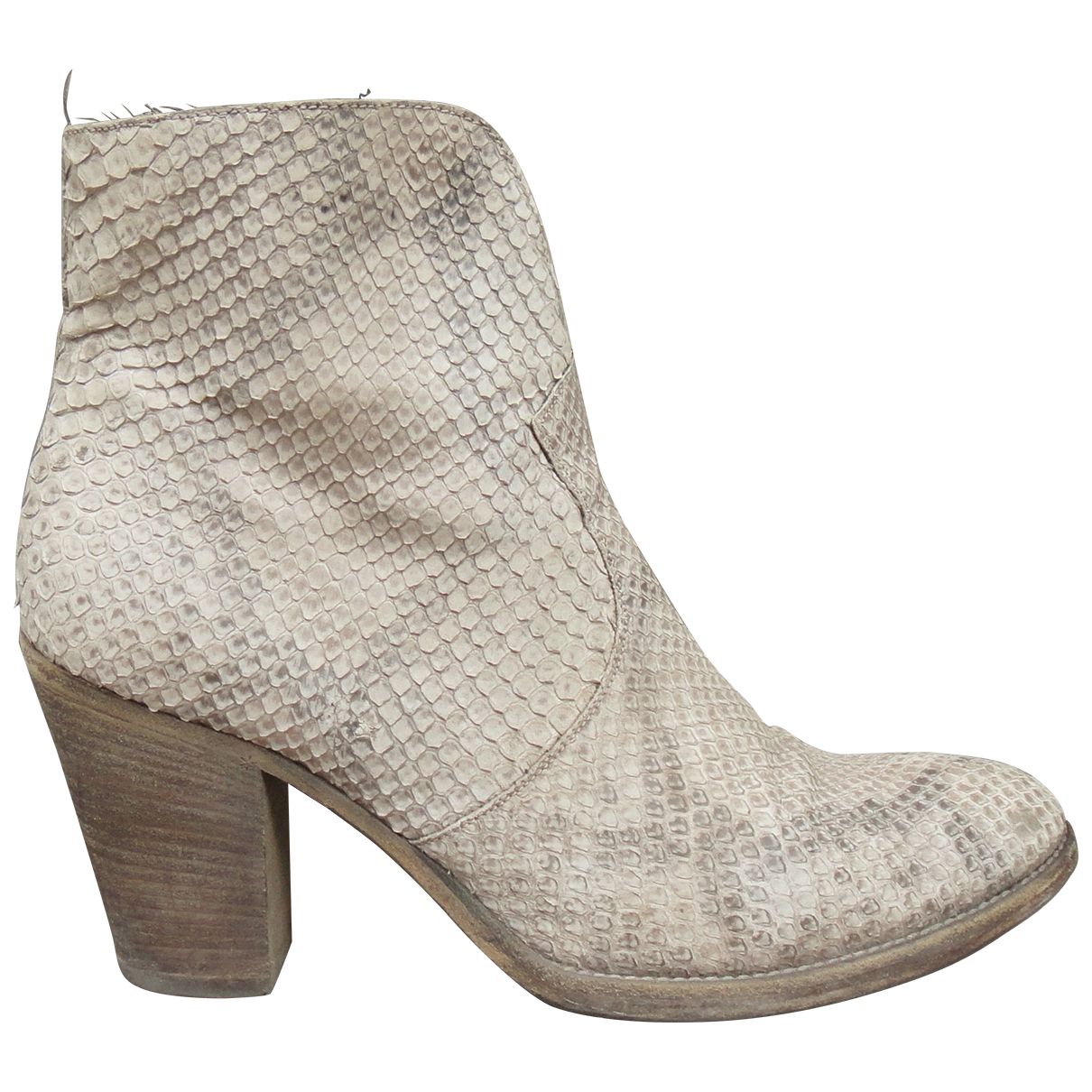 Sartore \N Beige Python Ankle boots for Women 40 IT