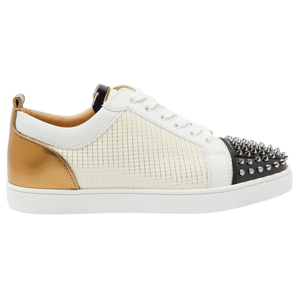 Christian Louboutin \N Sneakers in  Ecru Leder