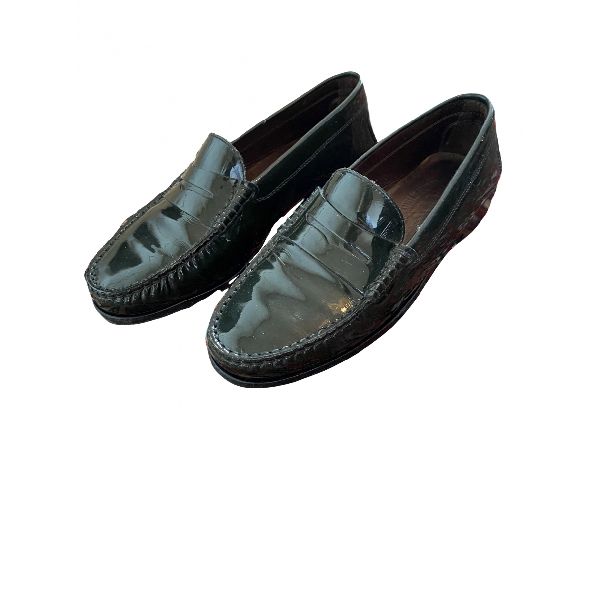 Tod's \N Green Patent leather Flats for Women 36 EU