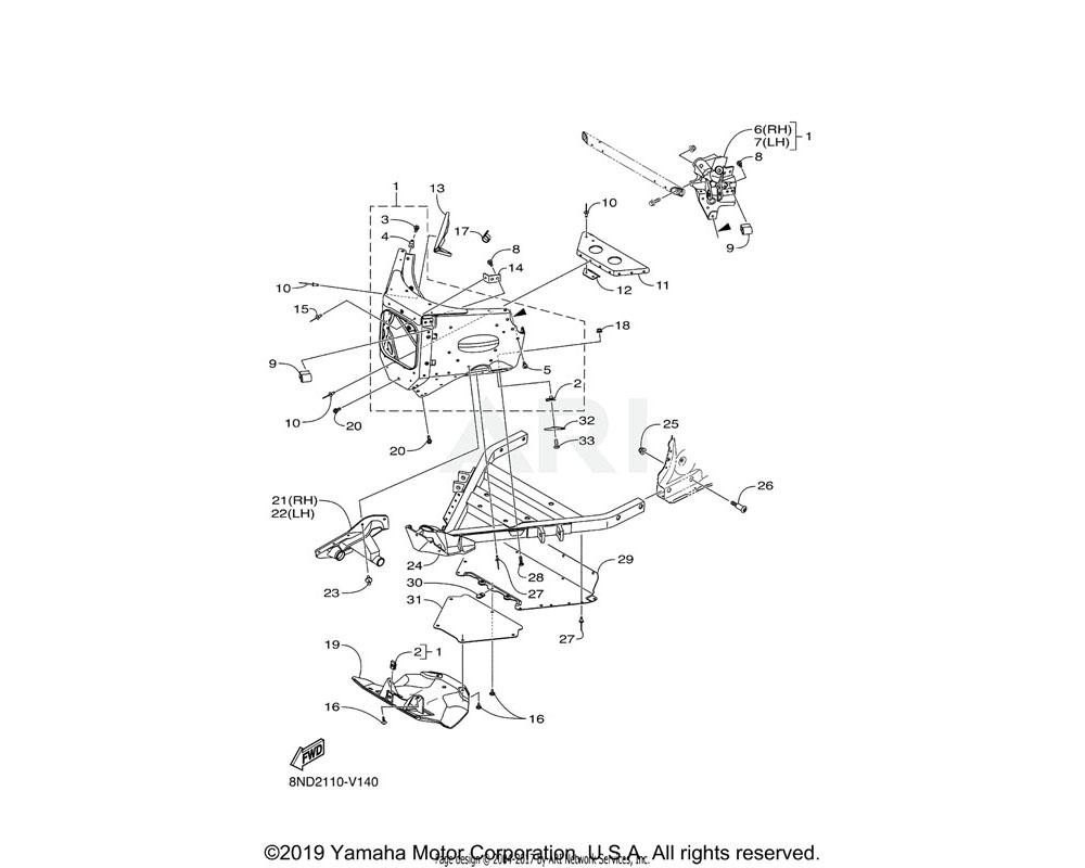 Yamaha OEM 8JP-RA180-00-00 BOLT, FLANGE M6X1.0X16