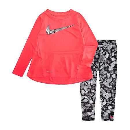 Nike Toddler Girls 2-pc. Legging Set, 2t , Black