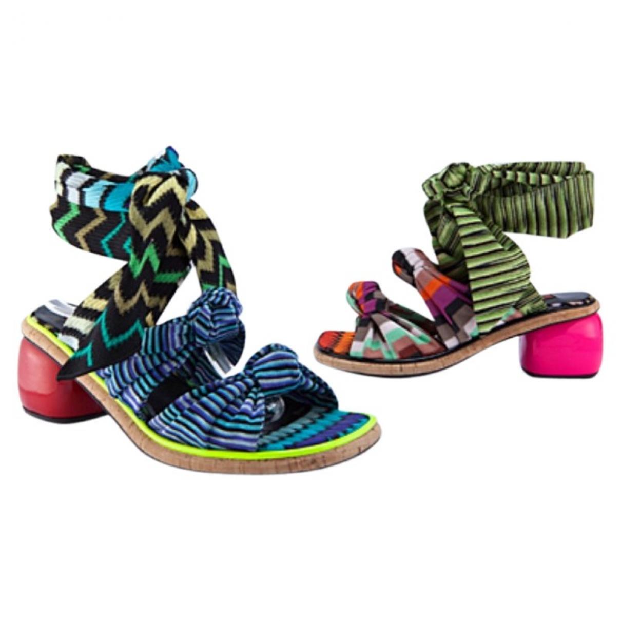 Missoni \N Multicolour Cloth Sandals for Women 37 EU
