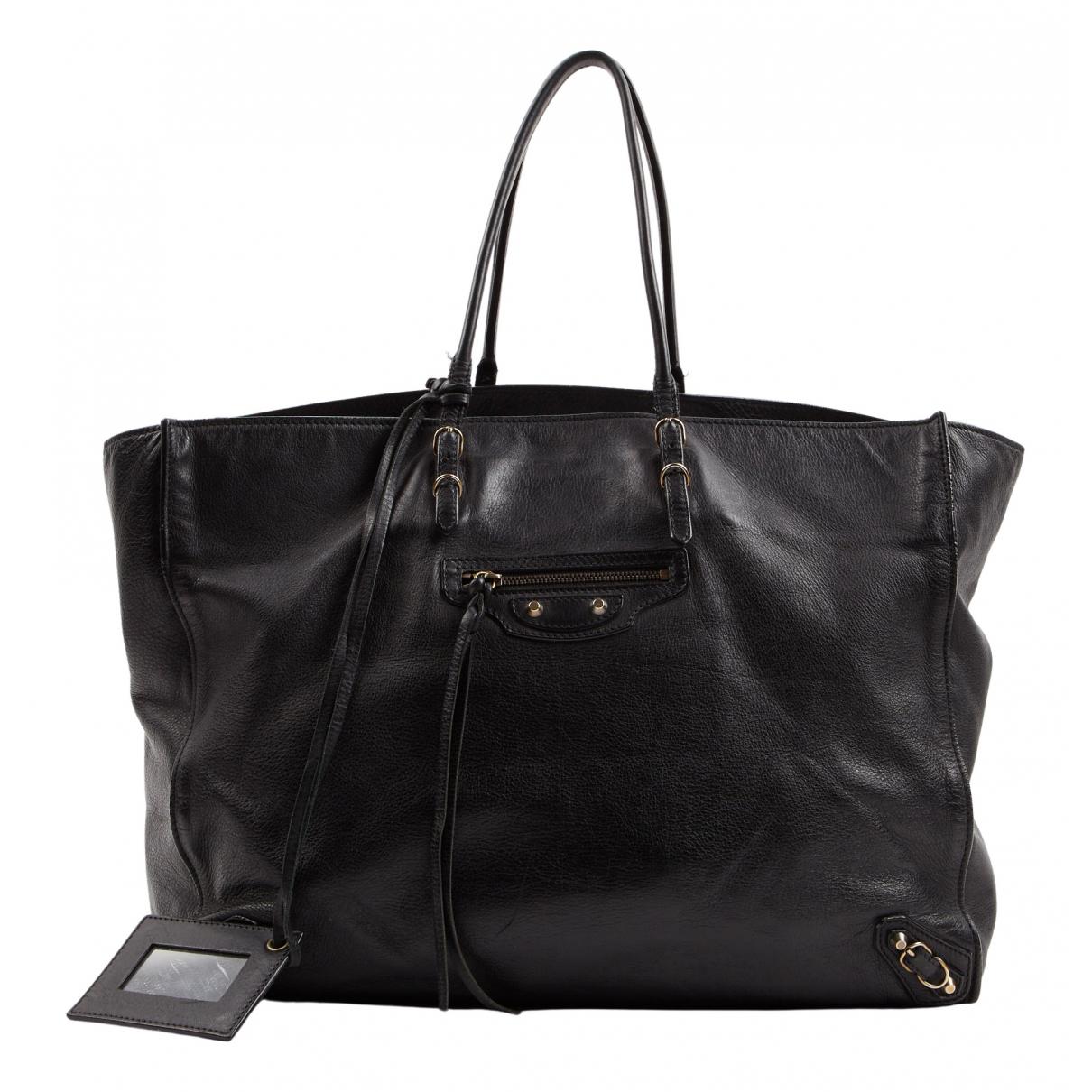 Balenciaga Papier Black Leather handbag for Women \N