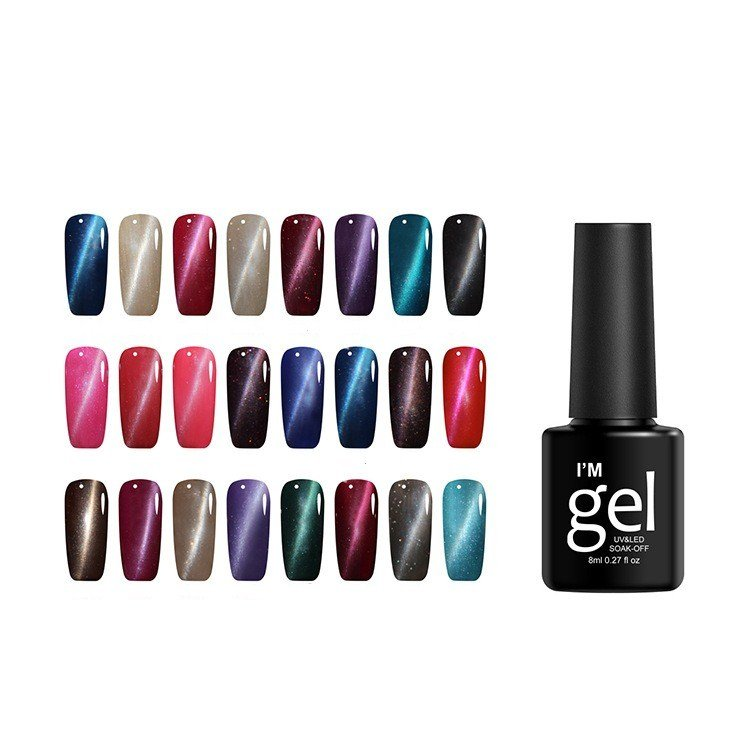 Cat Eye Gel Long-Lasting Nail Gel Polish Needed LED Lamp Nail Glue 24 Colors For Choice