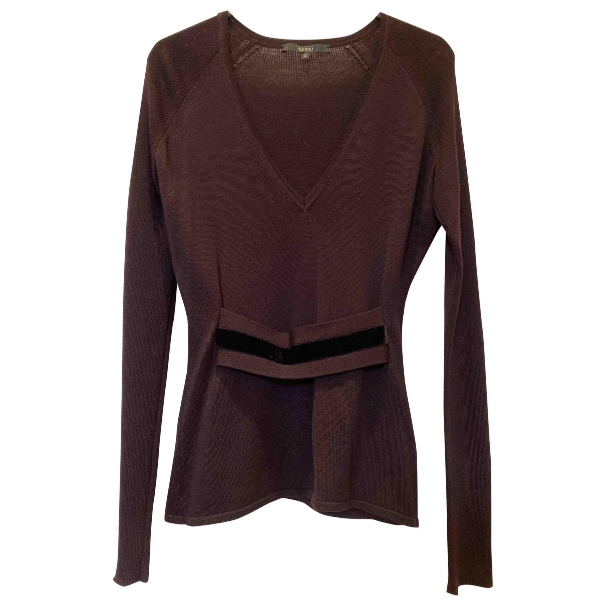 Gucci - Pull   pour femme en laine - violet