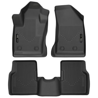 Husky WeatherBeater Floor Liners - Front & 2nd Row (Black) - 95681