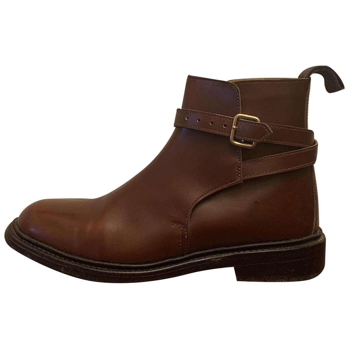 Trickers London - Boots   pour femme en cuir - marron