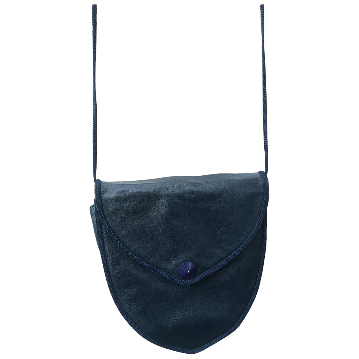 Yves Saint Laurent N Navy Leather handbag for Women N