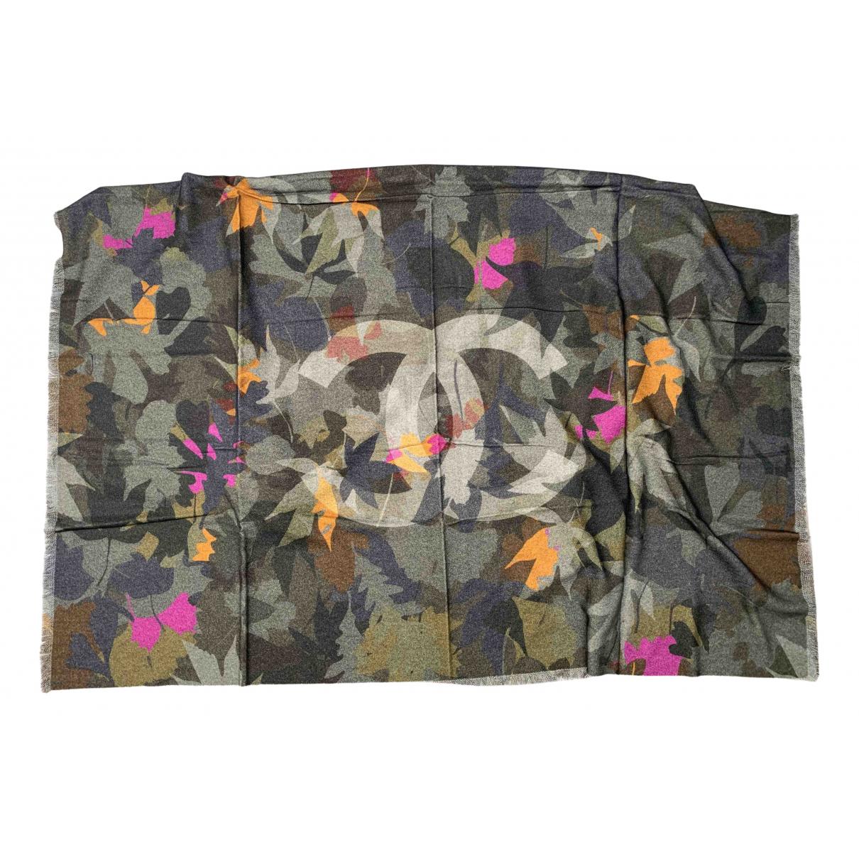 Chanel - Foulard   pour femme en cachemire - multicolore