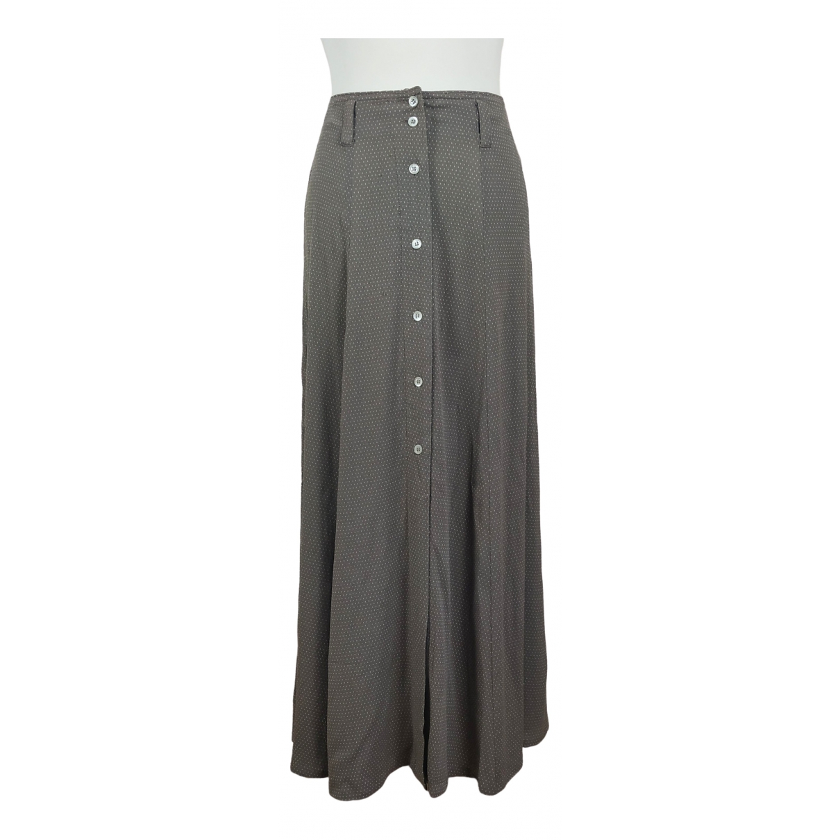 Non Signé / Unsigned Hippie Chic Grey skirt for Women 36 FR