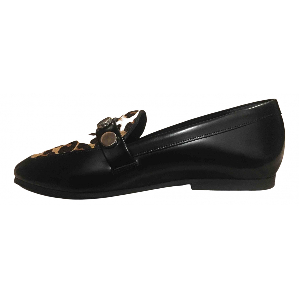Claudie Pierlot \N Black Leather Flats for Women 36 EU