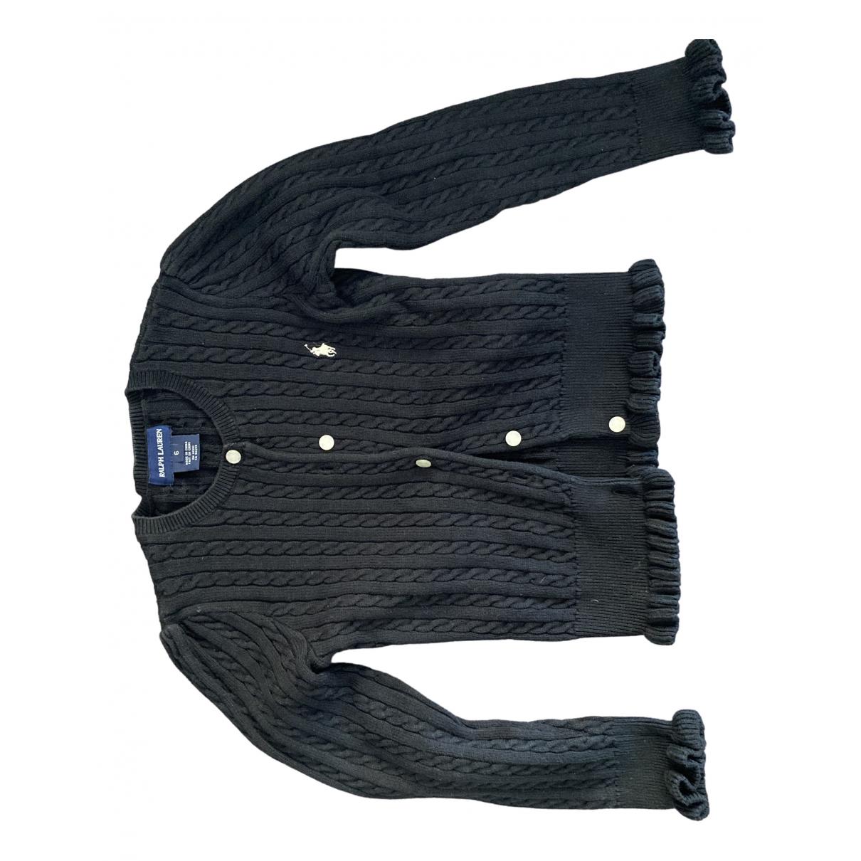 Ralph Lauren - Pull   pour enfant en coton - noir