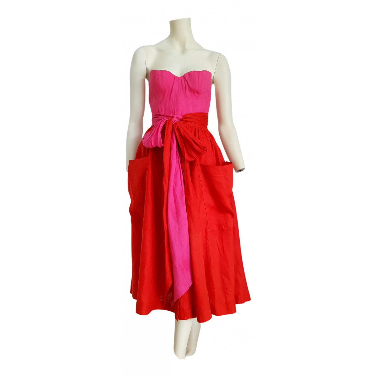 Claude Montana N Pink Linen dress for Women S International