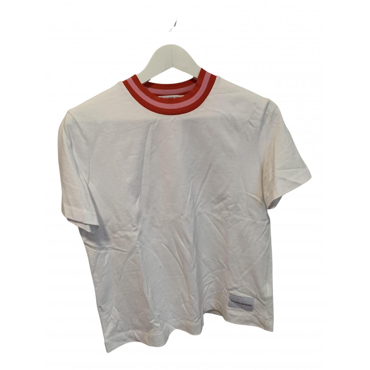 Calvin Klein - Top   pour femme en coton - blanc