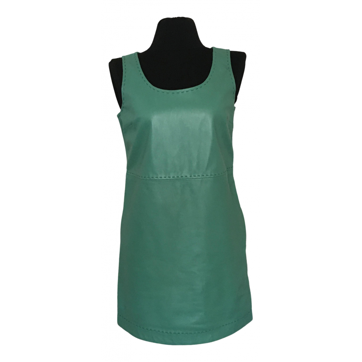 Moschino Love N Green Leather dress for Women 44 IT