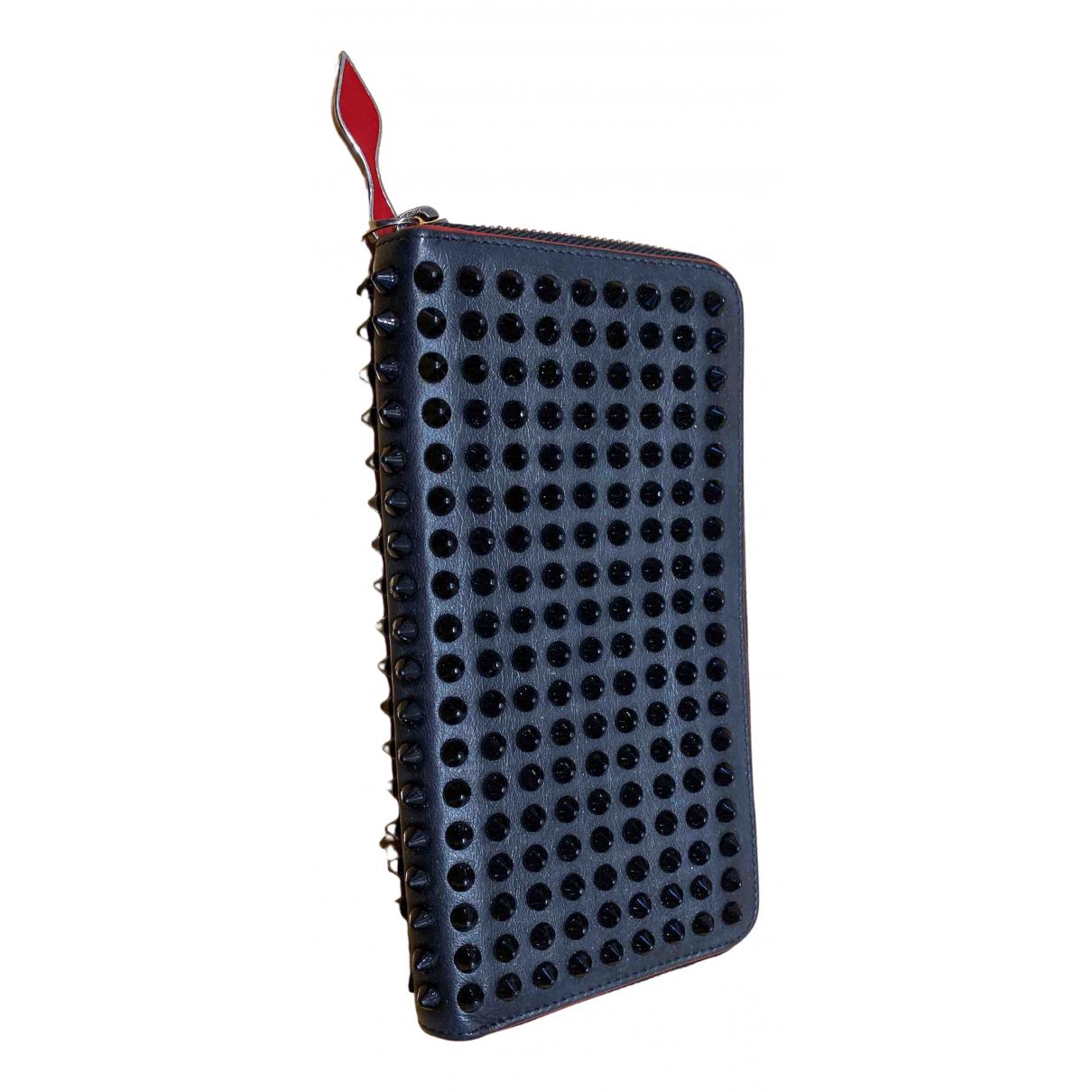 Christian Louboutin - Portefeuille Panettone pour femme en cuir - noir