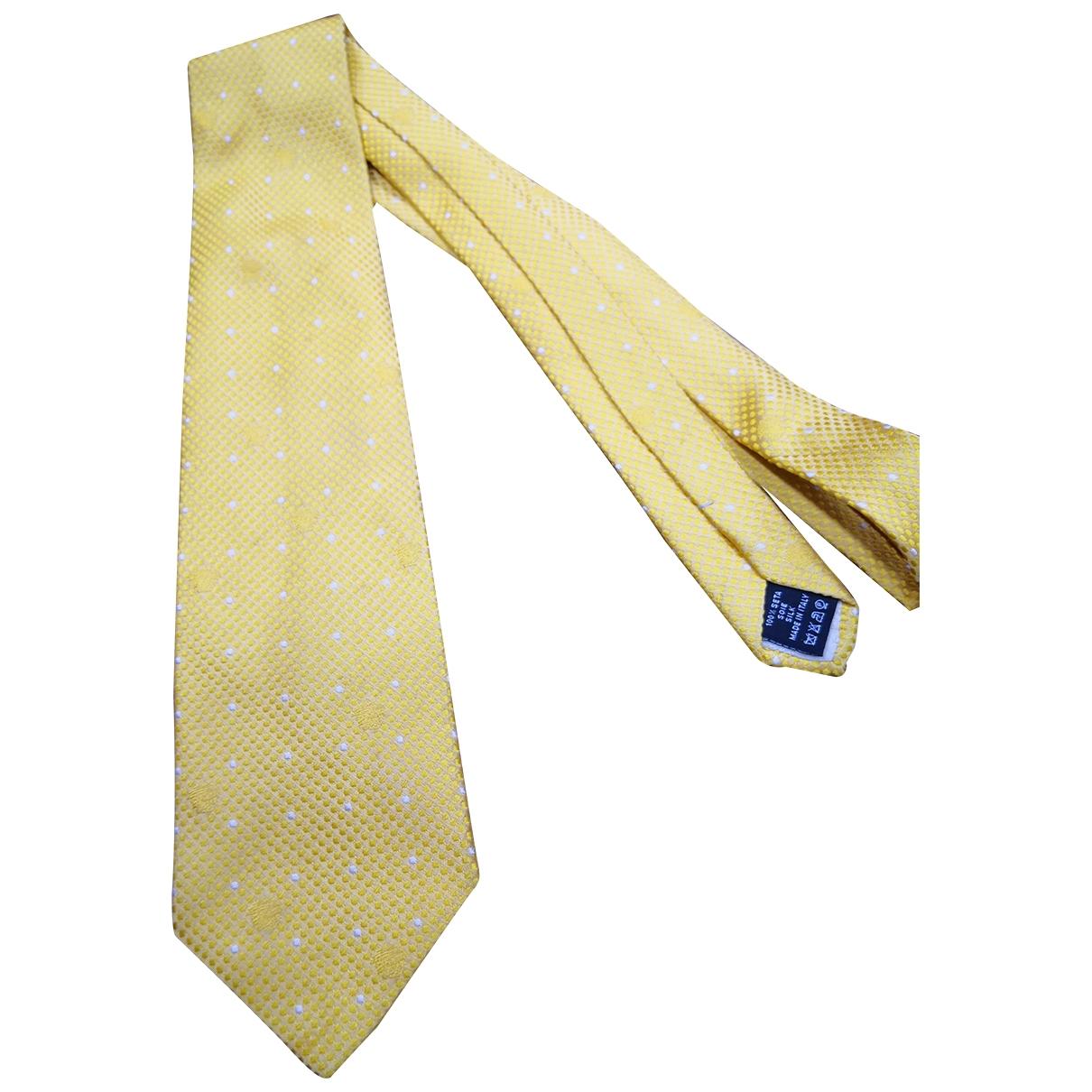 Gianni Versace \N Krawatten in  Gelb Seide