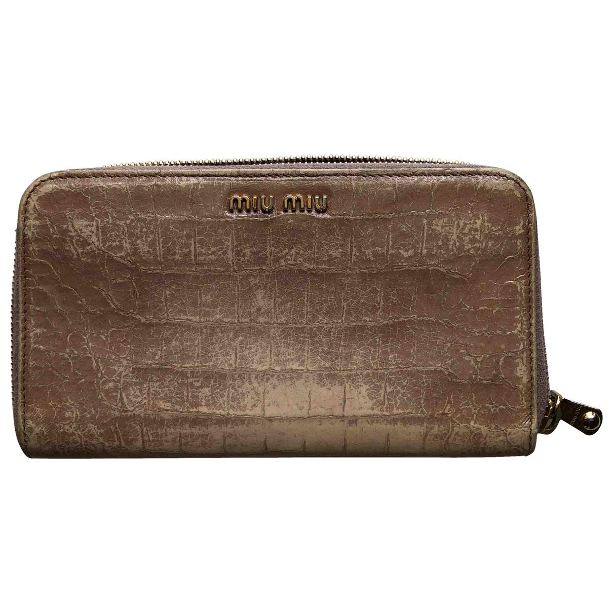 Miu Miu \N Pink Patent leather wallet for Women \N