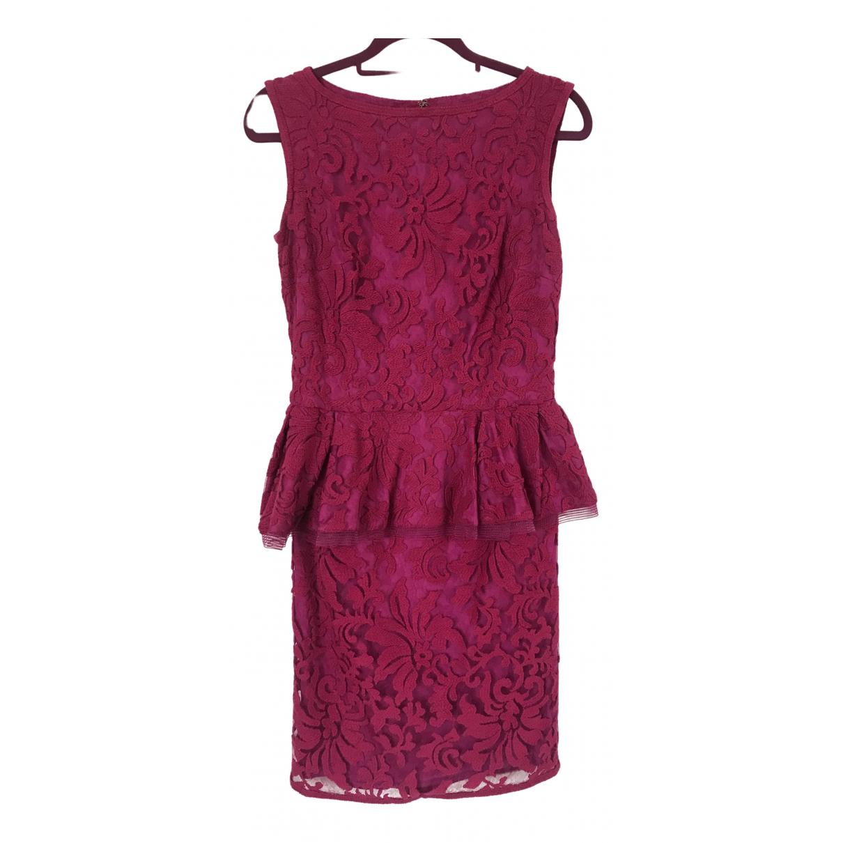 Tadashi Shoji \N Kleid in  Rosa Baumwolle