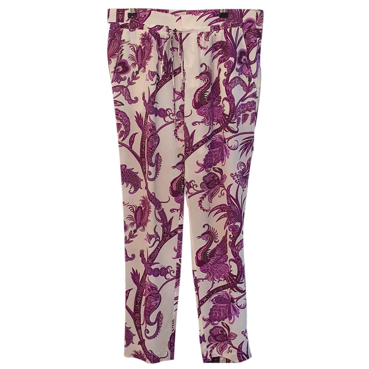 Gucci - Pantalon   pour femme en soie - multicolore