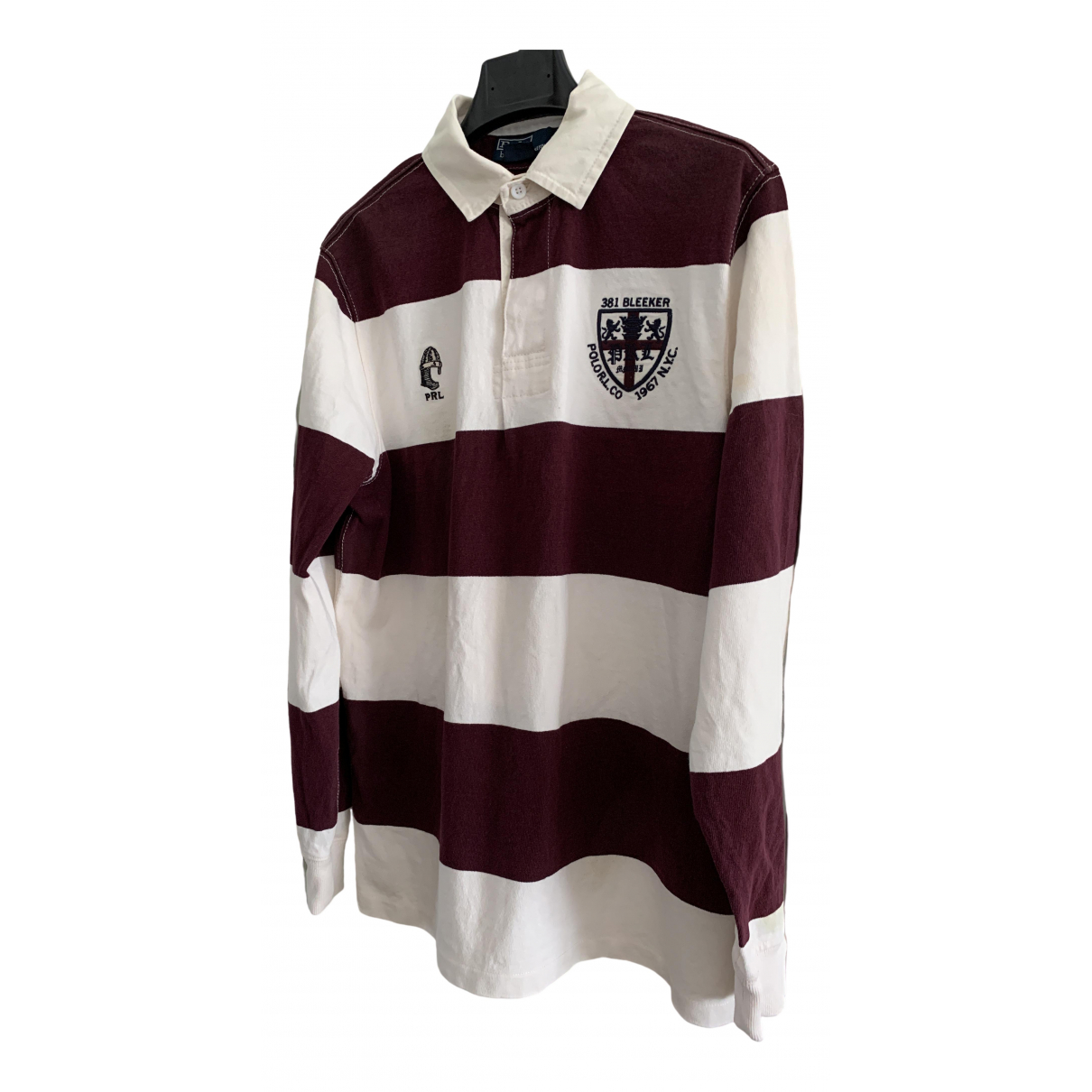 Polo Ralph Lauren Polo Rugby manches longues Burgundy Cotton Polo shirts for Men M International