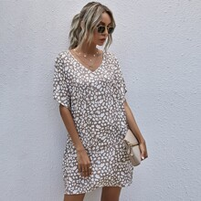Tunik Kleid mit Muster