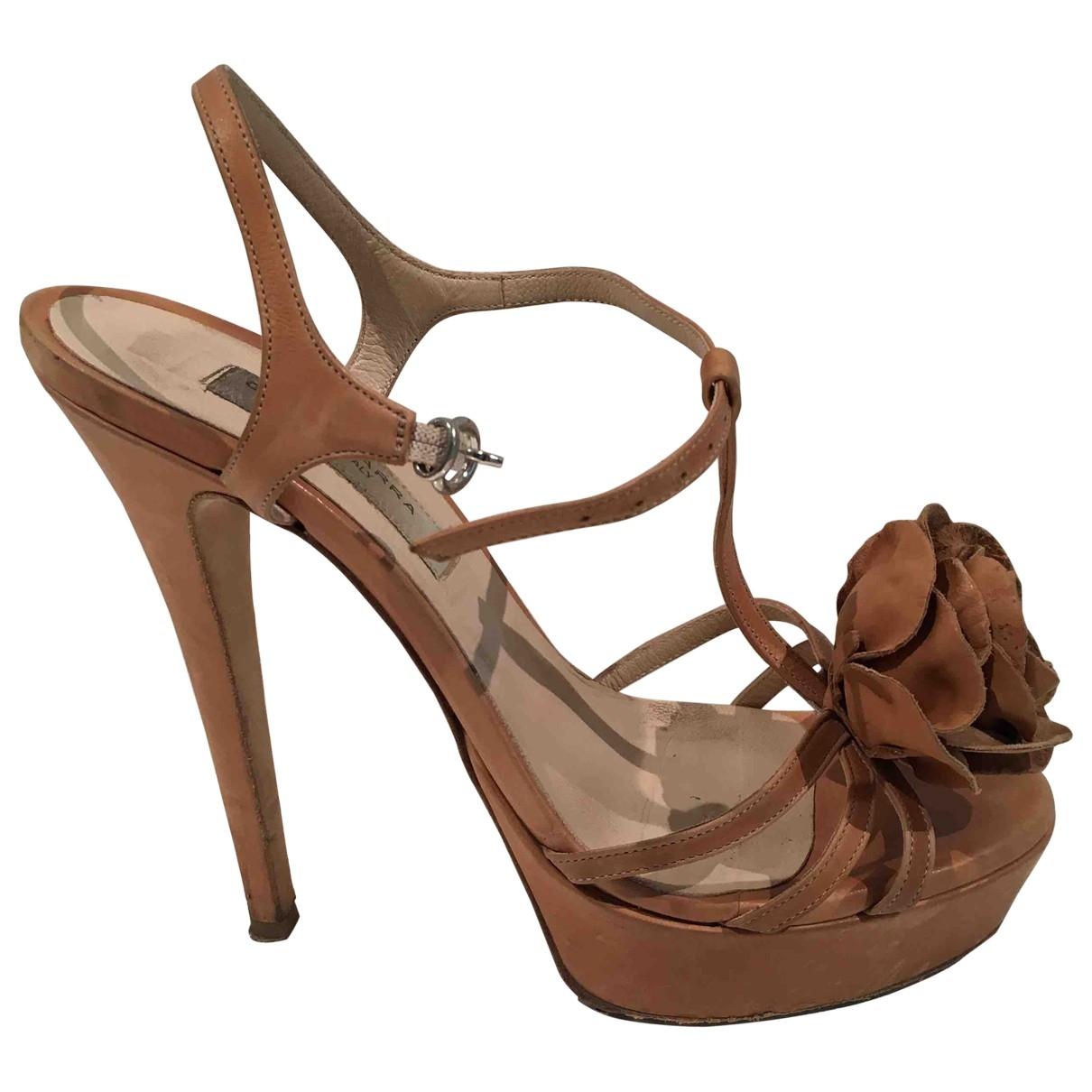 Gianni Marra \N Beige Leather Heels for Women 39 EU