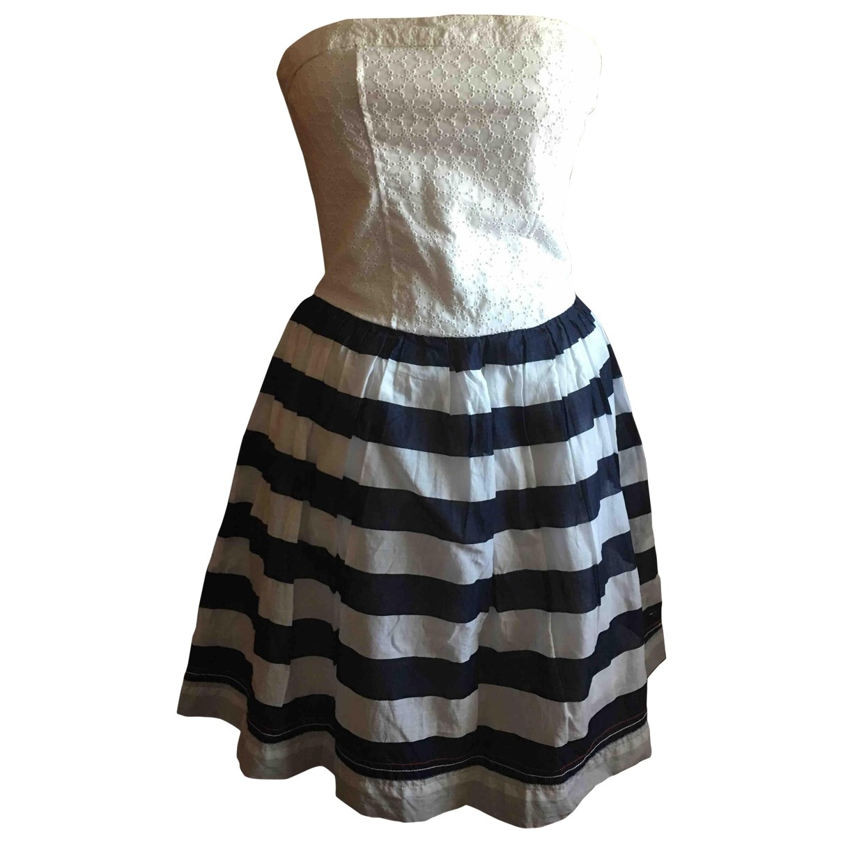 Tommy Hilfiger \N Kleid in  Weiss Baumwolle