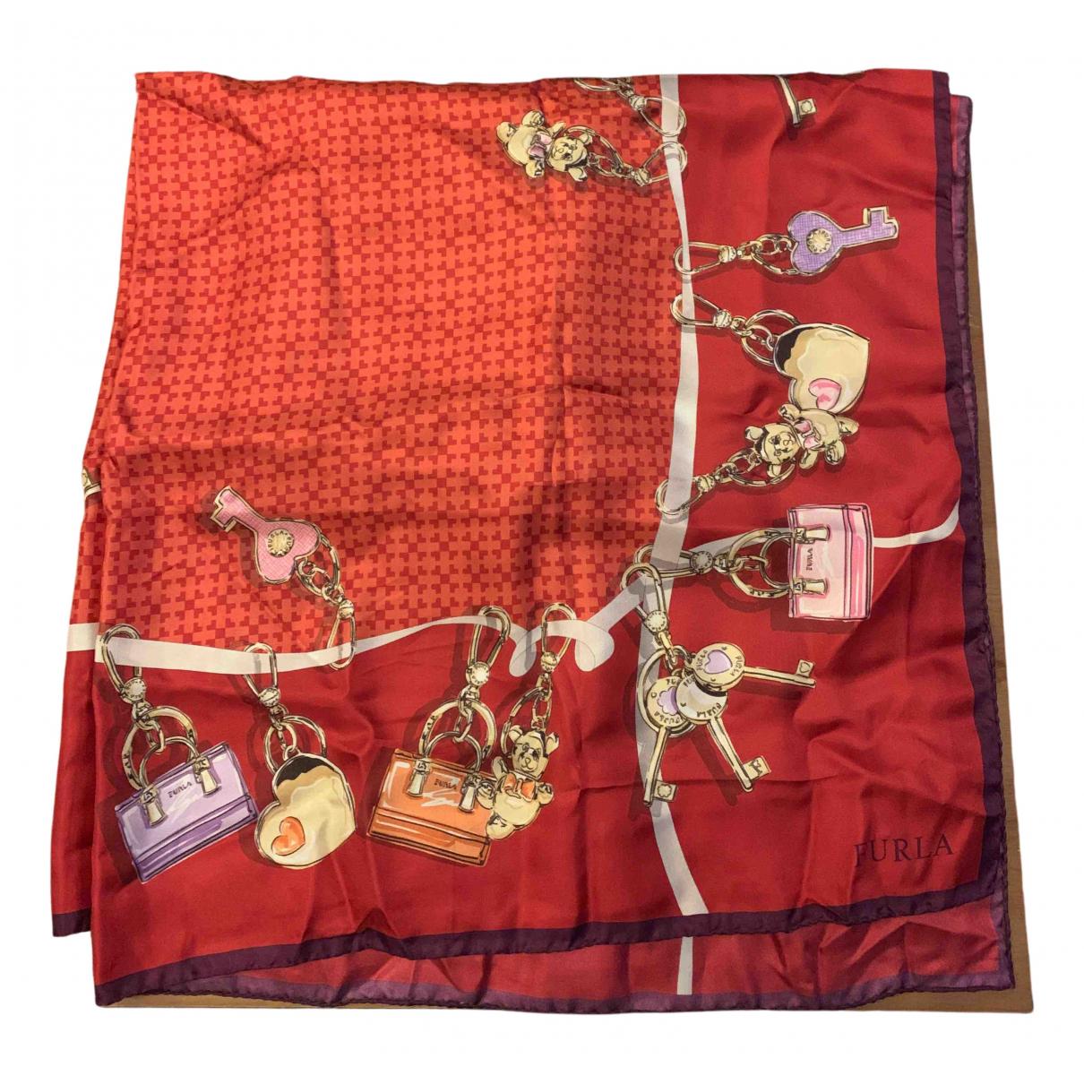 Furla - Foulard   pour femme en soie - rouge