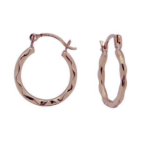 14K Gold 12mm Hoop Earrings, One Size , No Color Family