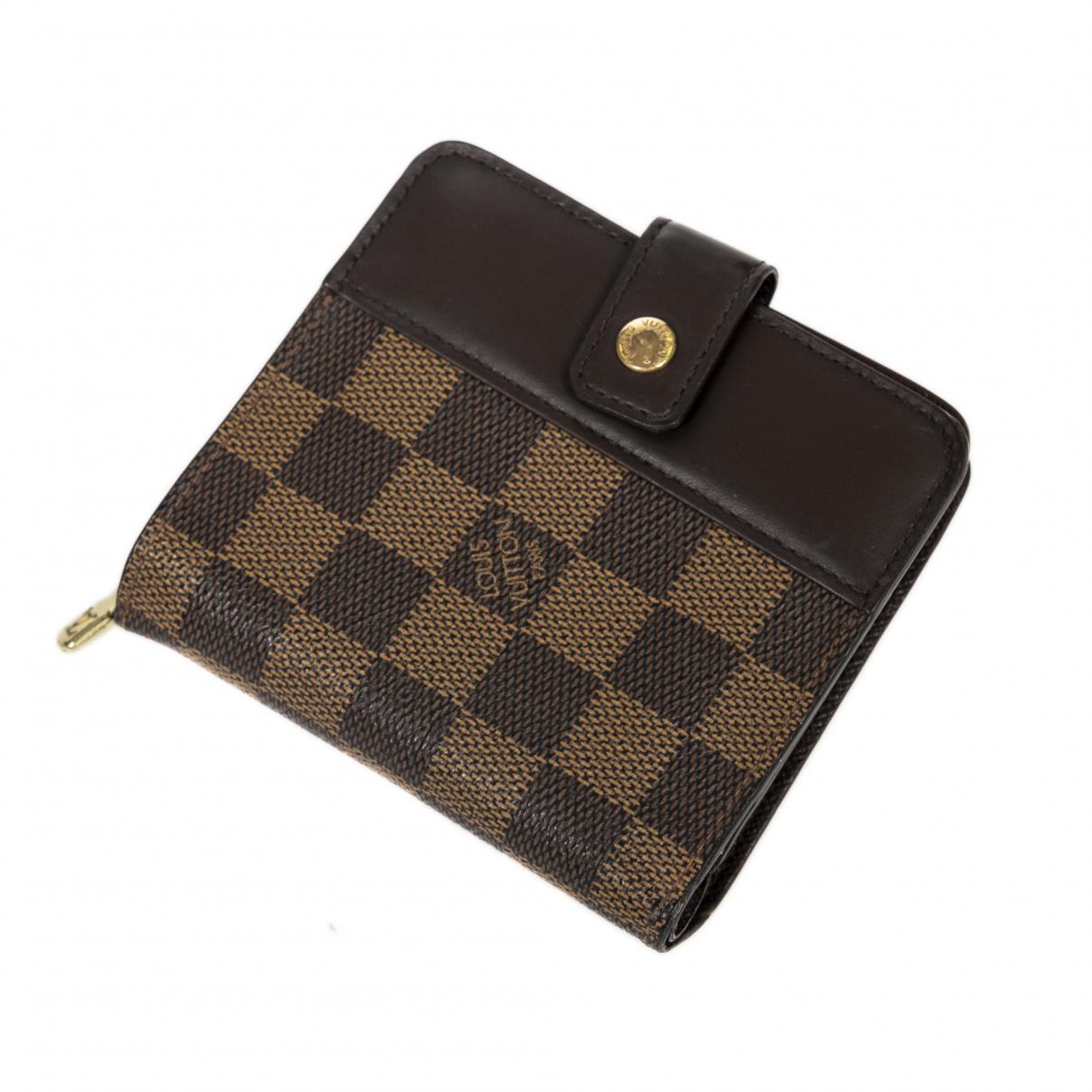 Louis Vuitton - Portefeuille   pour femme en cuir - marron