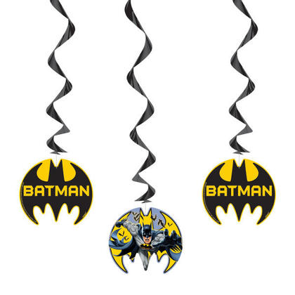 Batman 3 Hanging Swirl Decorations 26