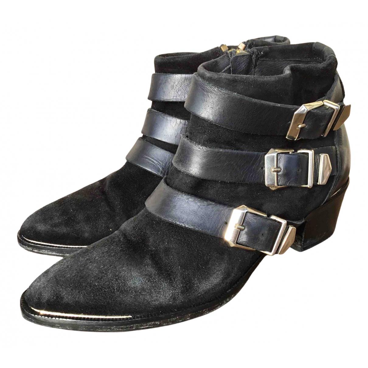 The Kooples - Boots Spring Summer 2019 pour femme en suede - noir