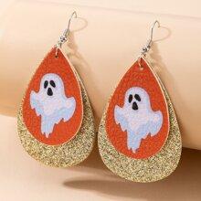 Ohrringe mit Halloween Geist Anhaenger